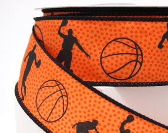 "Basketball Patterned Ribbon - 1 1/2"" - 10 Yds"