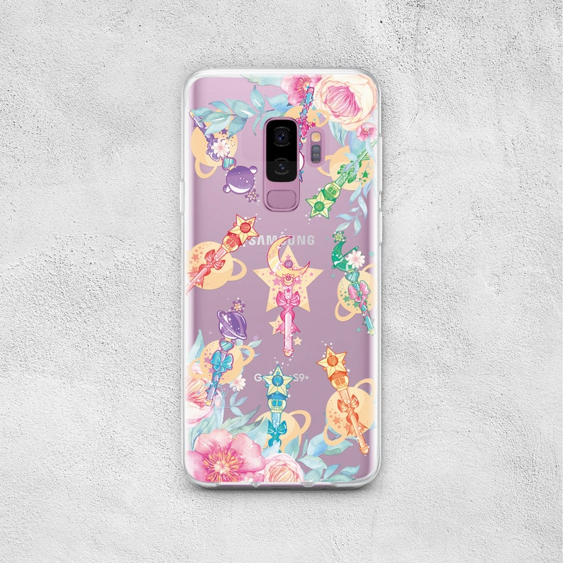 Anime Sailor Moon Wand Phone Case Samsung for Galaxy S10e S10 S9 S8 Plus S7  S6 Edge Note 9 8 5 A50 M20 A30 M10 A6 A8 A7 A9 J8 2018 Cover