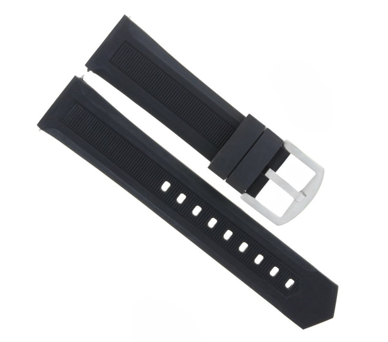 9fb3a7c6a045 22mm Rubber Watch Band Strap For Tag Heuer Formula F1 Black