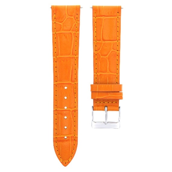 4c3e98325 18Mm Leather Watch Band Strap For Croton Watch Orange | Etsy