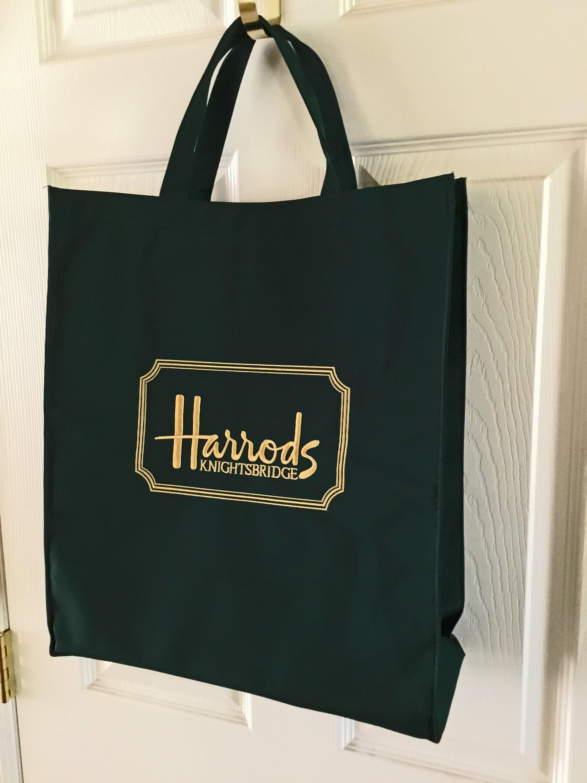 1990sEtsy Vintage Bag Harrods Reusable Canvas Shopping qzjSVpLUMG