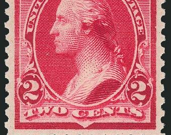 2 Cent Carmine Washington Stamp Sc 250