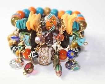 Chic Gypsy Style Stretch Charm Bracelets (3)