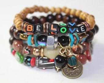 Be Love Stack Stretch Bracelets