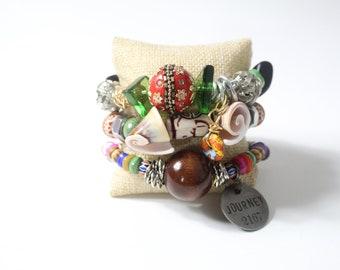 Small Set (3) Bracelet Pillow Jewelry Pillow Cushion Jewelry Display Holder Beige
