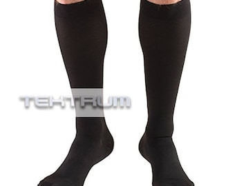 0014a39c7 Tektrum (1 pair) Knee High Firm Graduated Compression Stockings 23-32mmHg  for Men Women - for Nurses