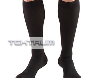 a217bd55c57 Tektrum (1 pair) Knee High Firm Graduated Compression Stockings 23-32mmHg  for Men Women - for Nurses
