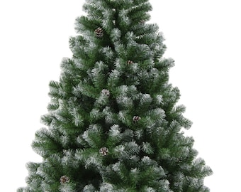 tektrum 6 feet artificial christmas tree with 48 pine cones and glitter tips solid metal stand for christmasholidayparty td syct 1713e