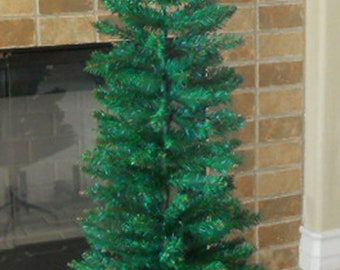 4 artificial christmas tree flocked tektrum 4feet artificial christmas fir pencil tree w tapered branch tips for christmasholiday slim tight spaces tdsyct1610a christmas tree etsy