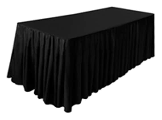 Fitted Polyester White Table Cover Trade show Booth DJ Tablecloth Wedding 6/' ft