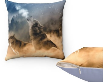 Personalized Pillowcase for Kids with Wolf Face