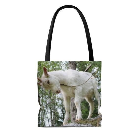 Pretty Goat Tote Bag Goat Lover Gift