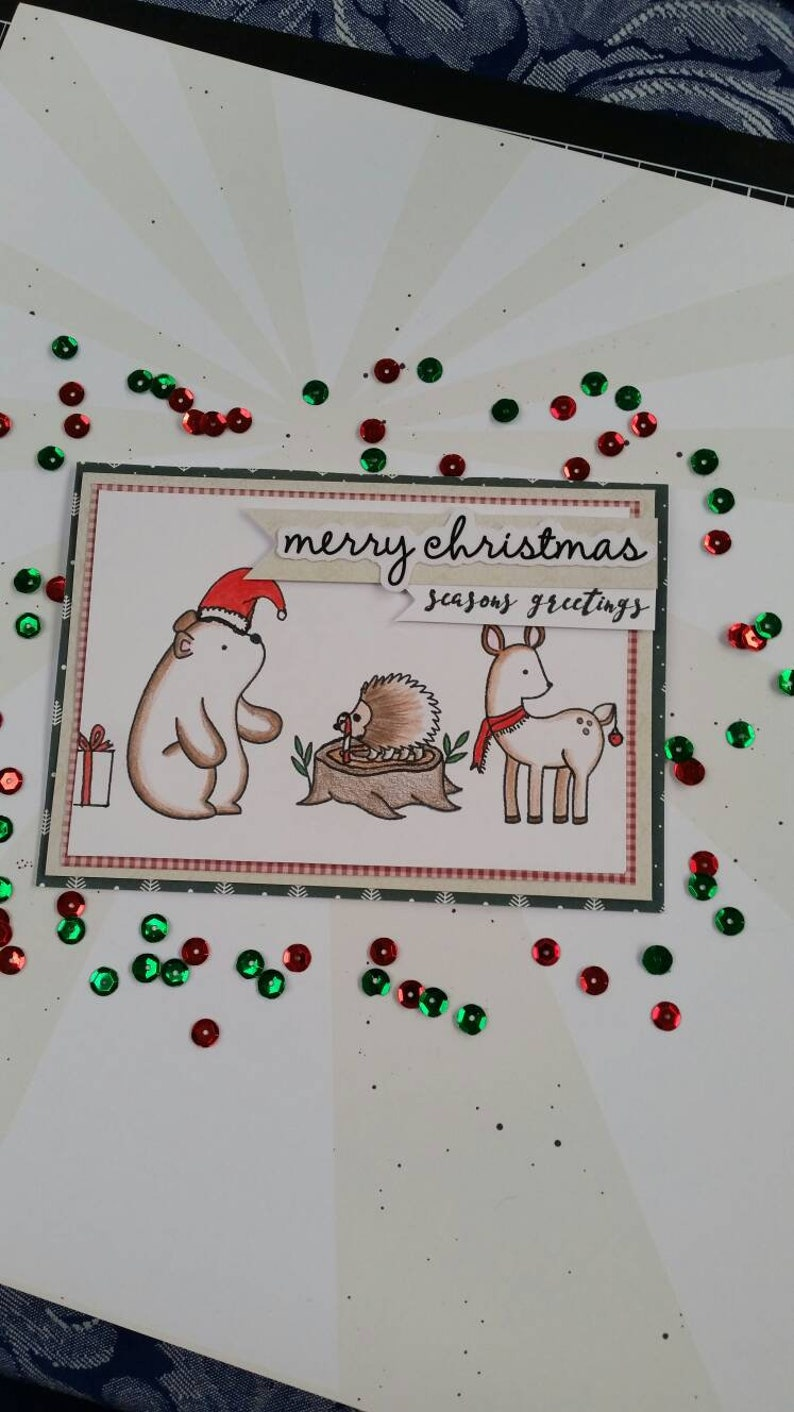 Handmade Christmas Cards Holiday Card Cute Christmas Card Etsy