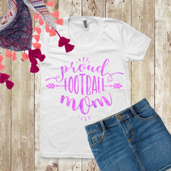 Proud Football Mom Svg Football quotes Files Mommy Svg Football Shirt Svg  Silhouette And Cricut Dxf Png Files sport mama mum mug design