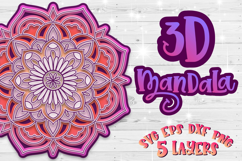 Download 3D Mandala SVG flower files for cricut Layered Flowers ...