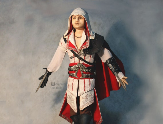 Assassins Creed Ezio Auditore Art Doll Celebrity Doll Doll Portrait Doll Author S Doll