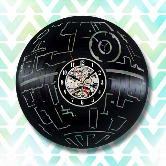 Star Wars Death Star, Death Star vinyl clock, Death Star wall art, Star Wars starships, Star Wars spaceship, Star Wars Darth Vader