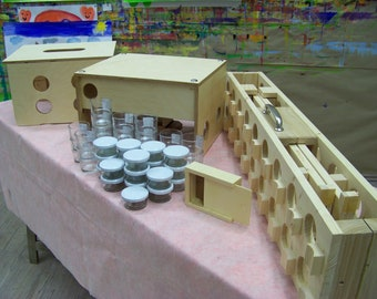 Holzkunst Mobel Palettentische Furs Malspiel By Maxholz On Etsy
