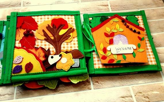 Livre Bebe Montessori Livre 4 Saisons Animaux En Feutre Feutre Nature 8 Pages Actives Bebe Livre Saisons Livre D Eveil Cadeau De Bebe