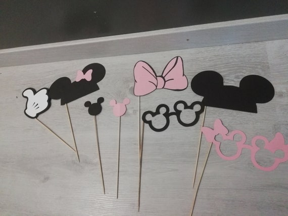 Kindergeburtstag Photo Booth Minnie Mouse Mickey Photo Etsy