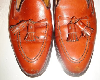 7fb3533b831d4 John Mazzo x Alden Cognac Leather Loafer w/Double Tassel Men's Shoe Size  9.5D/B