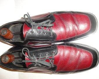 d0de26d226 Nunn Bush maroon and black oxford mens shoe size 11 D
