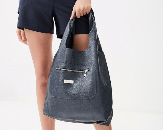 Leather tote bag suede hobo bag tote bag black gray sac cuir artisanal handbag large tote bag sling market vegan handbag purse