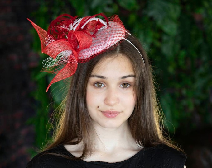 Mother of bride fascinator hat, Royal Ascot headpiece