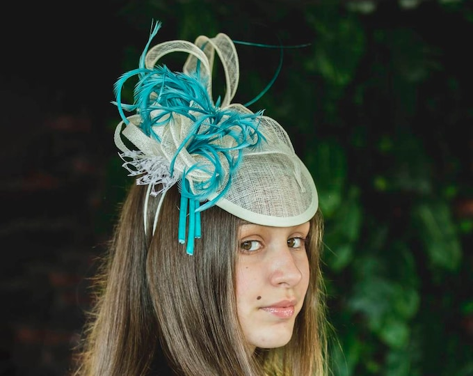 Royal Ascot fascinator hat bridal headpiece