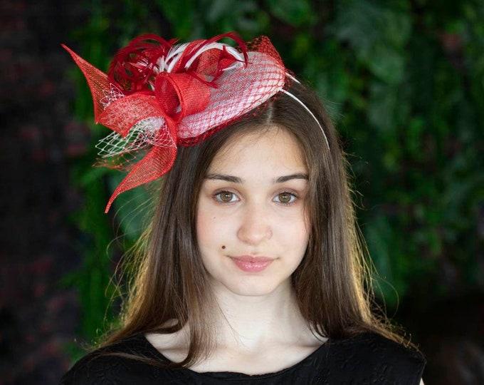 Mother of bride, bridesmaid fascinator hat, bridal headpiece