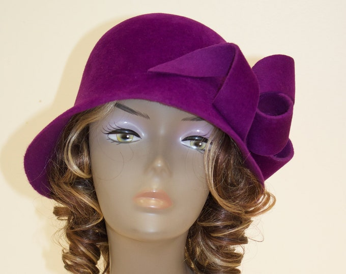 Flapper women hat, 1920s cloche fasciantor hat