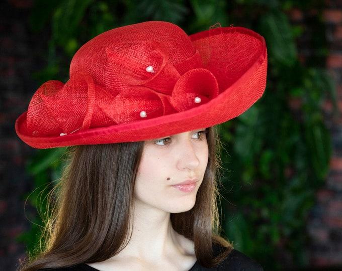 Mother of bride fascinator hat, Bridal Headpiece