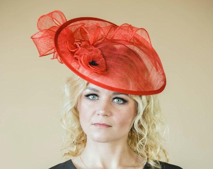 Mother of bride fascinator hat, bridal headpiece, bridesmaid hat