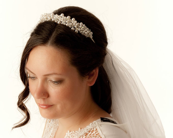 Hair vine, Swarovski tiara, Bridal crystal diadem