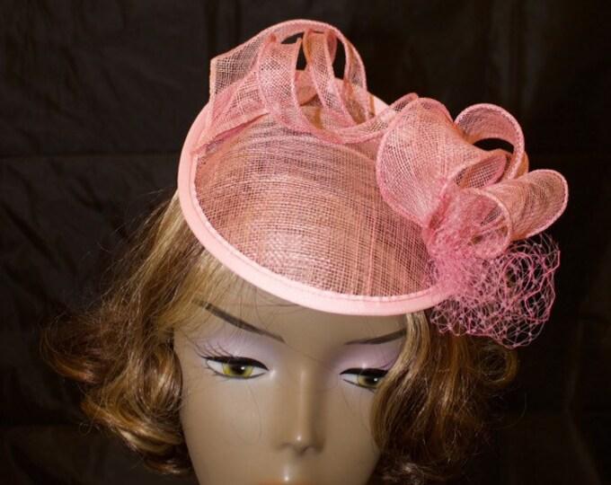 Blush pink sinamay hatinator
