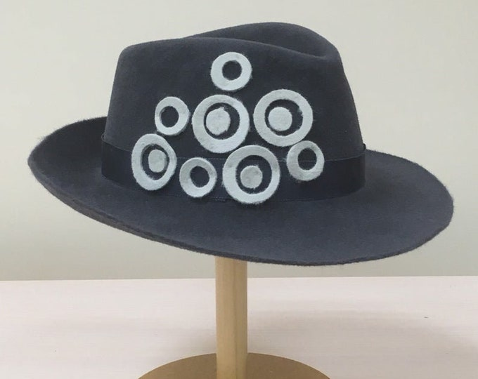 Fedora fascinator hat, Wide brim women hat