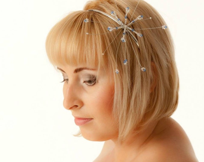 Bridal Tiara Headband Wedding Hair Accessories Comb Slide Hair Jewellery Jewelry Jewels made with Swarovski Elements Crystals