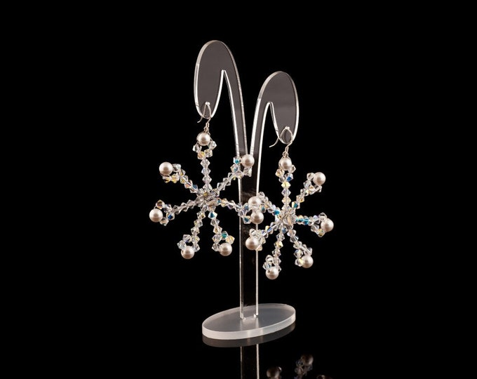 Swarovski Crystal Drop Earrings Snowflake