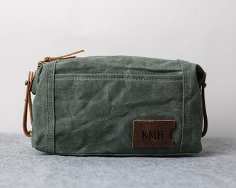 Waxed canvas dopp  06f5adbd2bc13