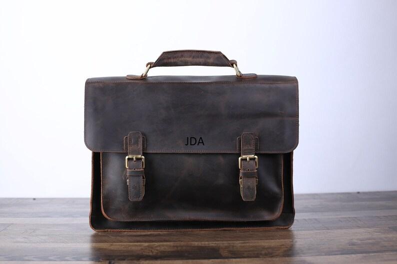 Personalized Handmade Vintage Leather Handbag Briefcase  0e2fe48a431a9