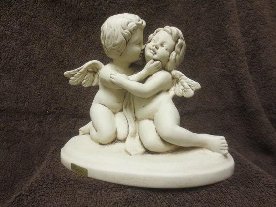 Putten Engel Angel Pair Cherubs Ceramic Angel Etsy