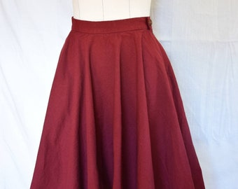 Plate skirt bordeuxrot with bag, waist skirt, summer skirt made to measure.