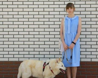 Dot dress, summer dress in 40s style, handmade unique piece, dress with pockets, gift idea