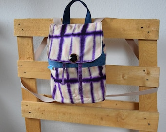 Small handmade backpack, upcycling, unique, gift ideas