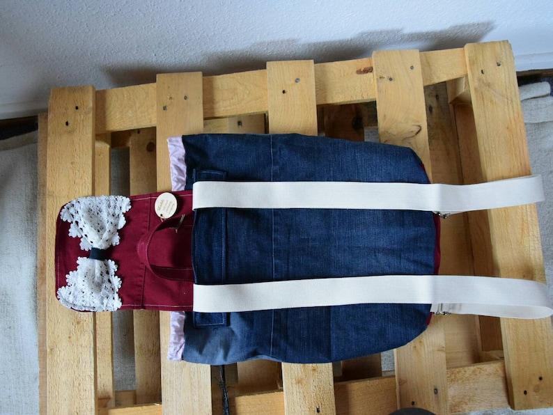 schoolback,upcycling,giftidea for girls handmade backpack