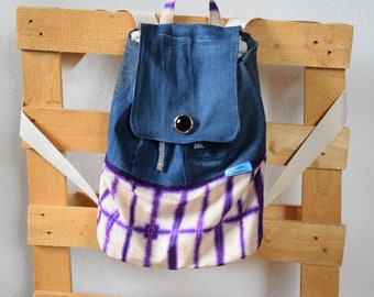 Handmade backpack, schoolbag, unique, upcycling