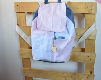 handmade backpack, schoolbag, upcycling, giftidea for girls