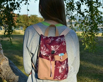 Handmade backpack, schoolbag, kindergartenbag, upcycling, giftidea