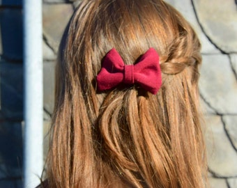 Handmade hair bows, bow set, gift idea for girls, hair clip