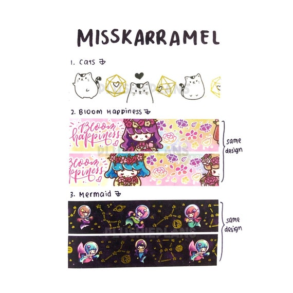 The Pink Room Co Icicles Holographic Washi Tape Samples LIMIT 3
